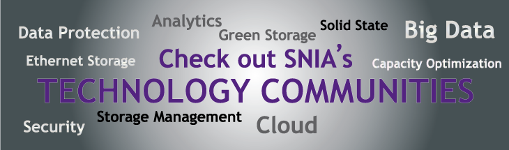 SNIA Technology Communities